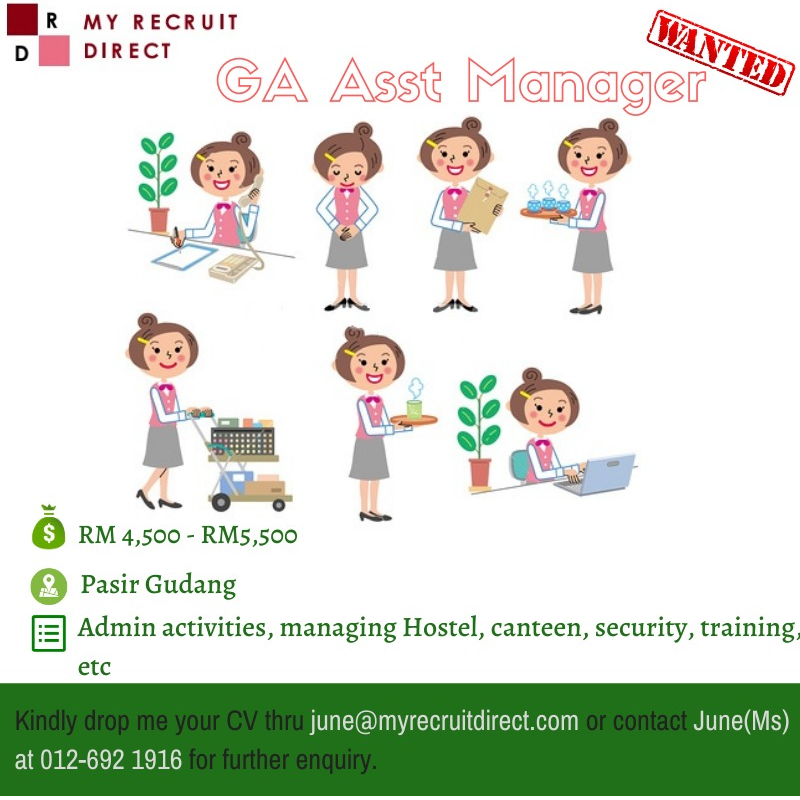 GENERAL AFFAIRS ASSISTANT MANAGER [cc: SBS]